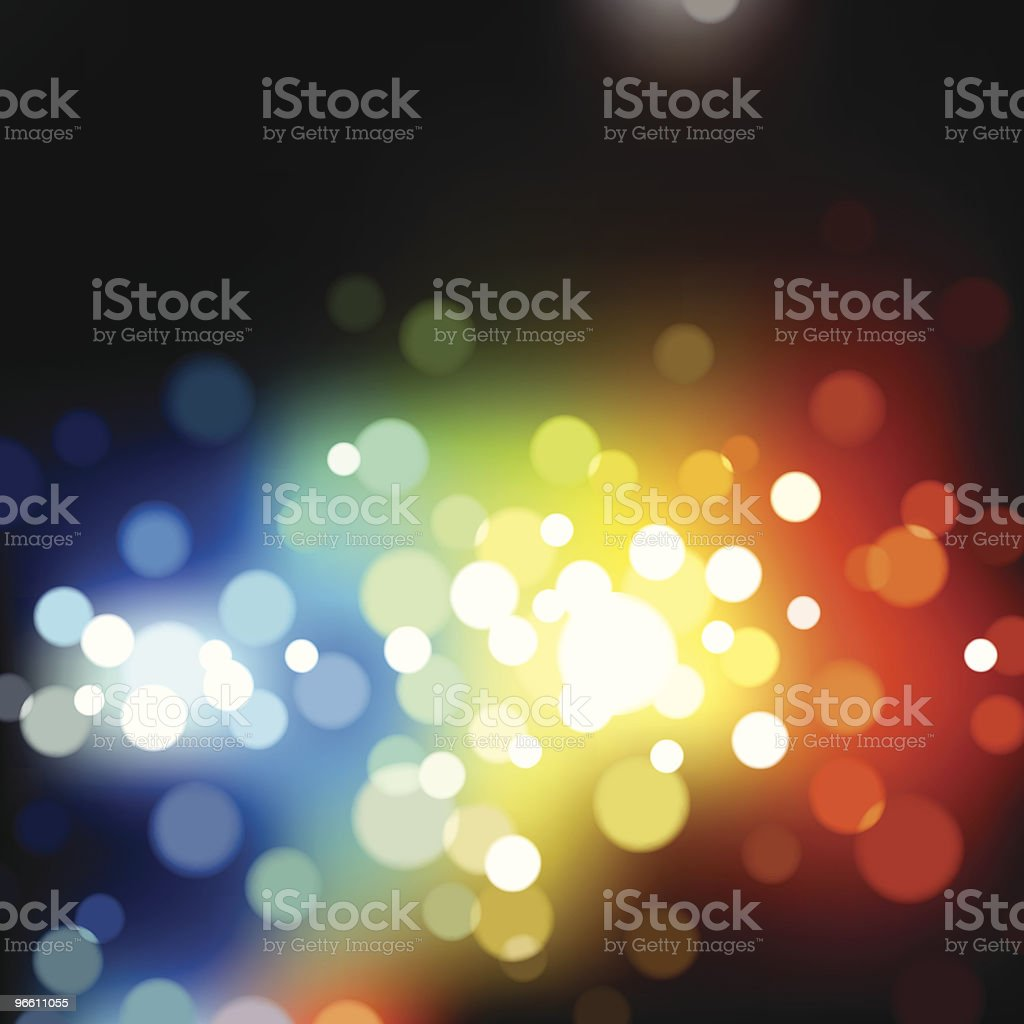 Multicolored blurry lights. EPS8 royalty-free stock vector art