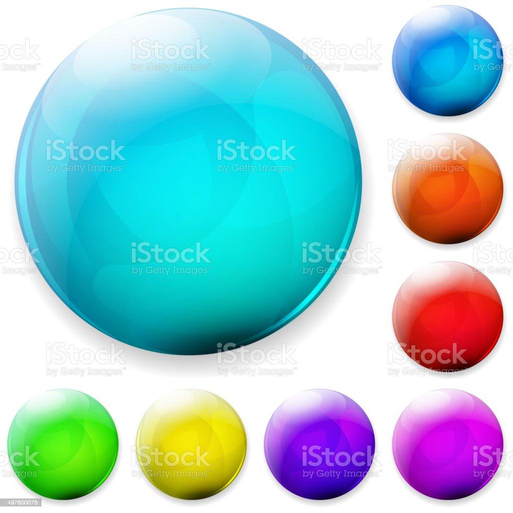 Multicolored botones - ilustración de arte vectorial