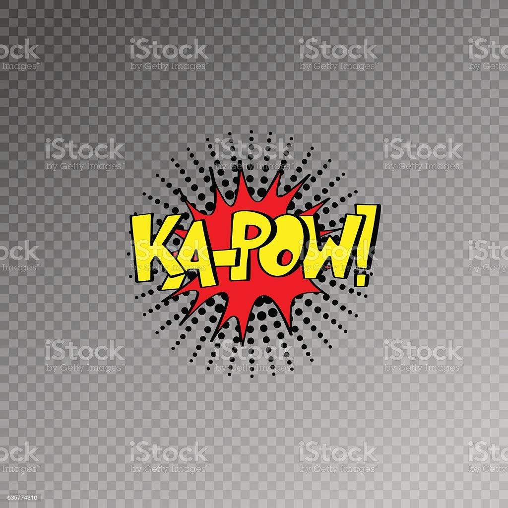 multicolored comic sound effects in pop art style, bubble speech vector art illustration