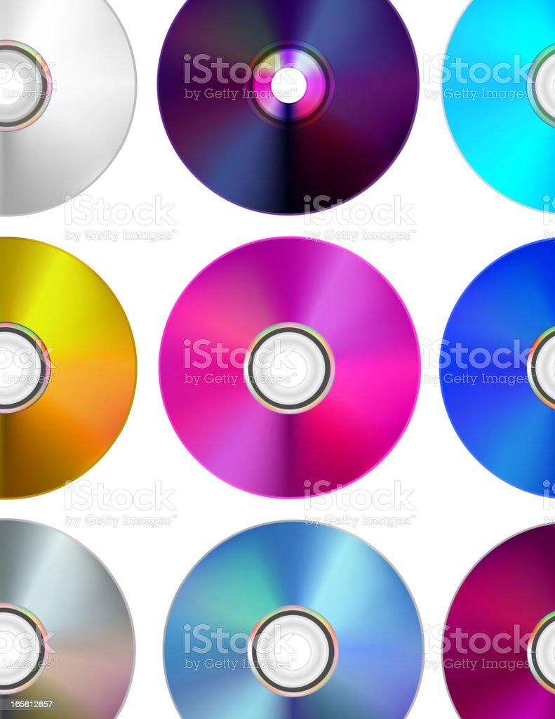 CD/DVD multicolored Disks vector art illustration
