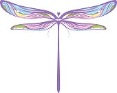 Multicolored dragonfly