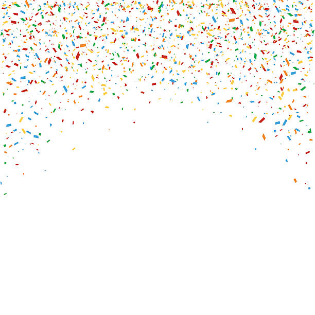 Multicolored falling confetti - Illustration vectorielle