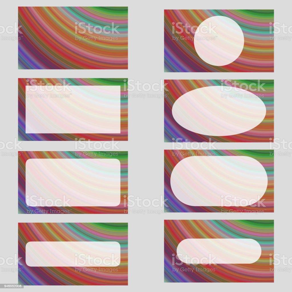 Multicolores Fractal Art Carte De Visite Design Ensemble