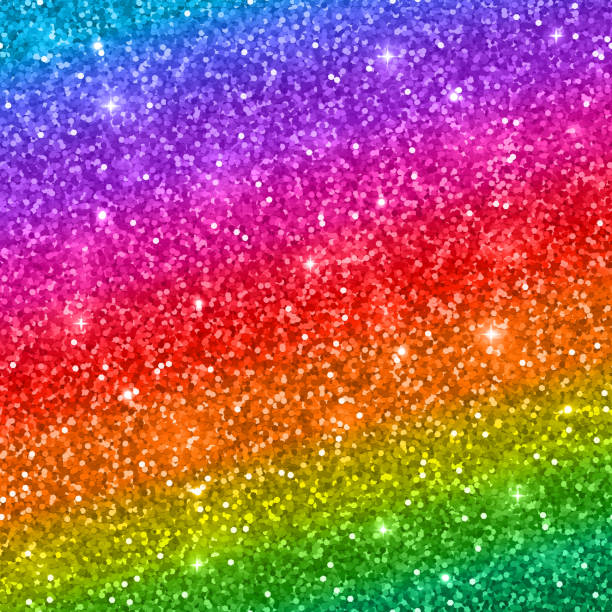 multicolored glitter background. vector - rainbow glitter background stock illustrations
