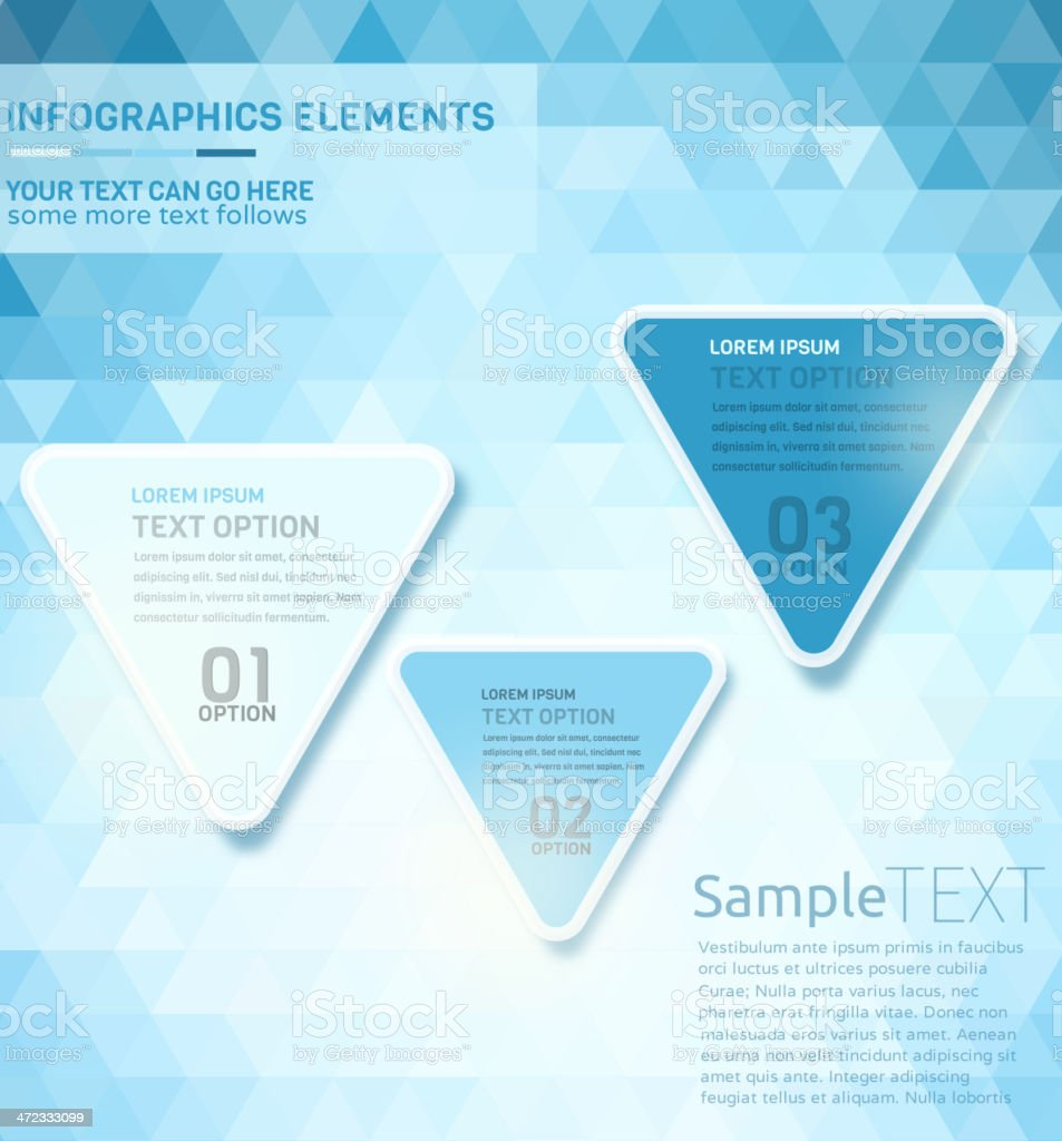 Multicolored infographic elements royalty-free stock vector art