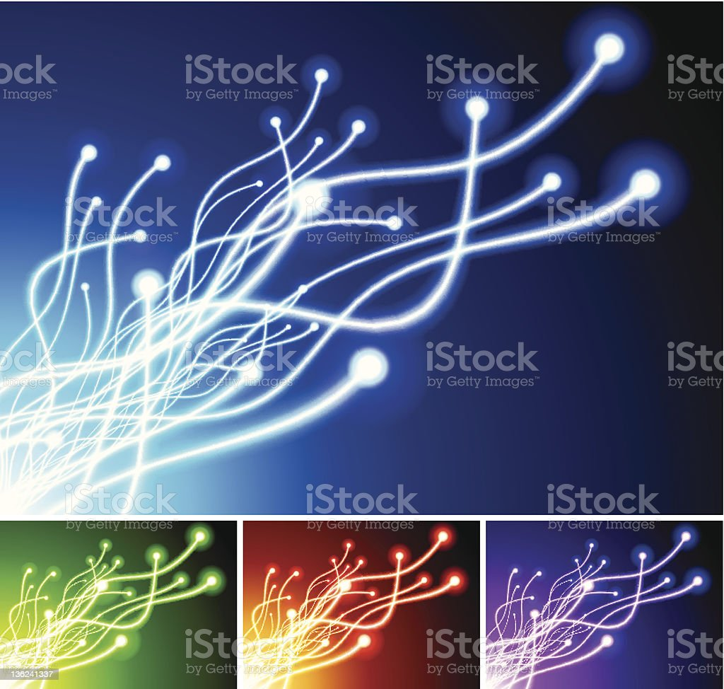 Multi-Colored Lens Flare Spectrum background collection royalty-free stock vector art