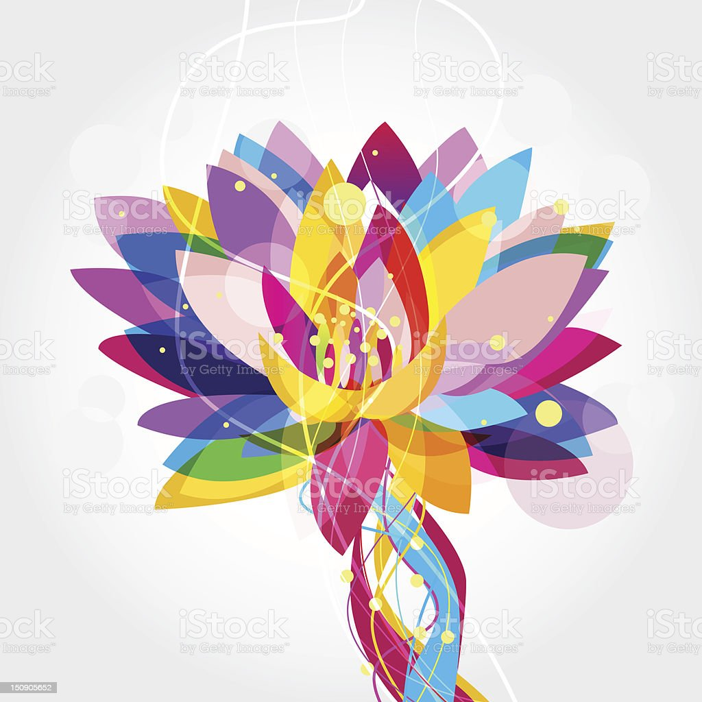 Multicolored lotus flower graphic stock vector art more images of multi colored lotus flower graphic royalty free multicolored lotus flower graphic stock vector art izmirmasajfo