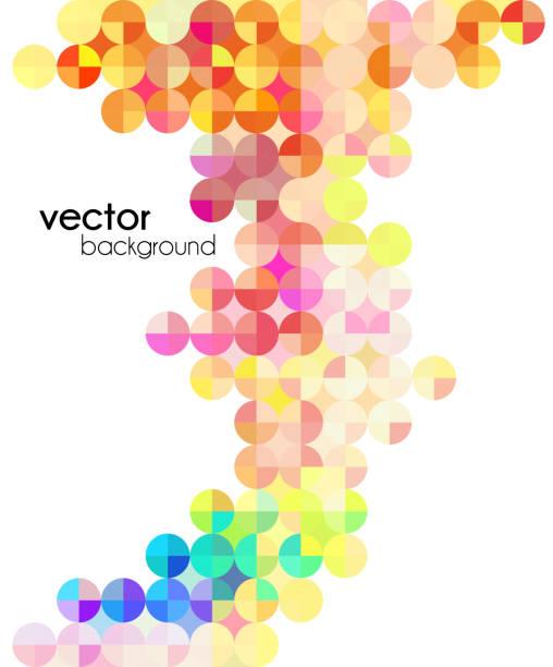 Viajero moderno mosaico multicolor - ilustración de arte vectorial