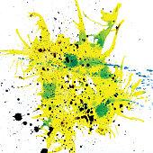 USA, Colors, Paint, Splashing, Color Image