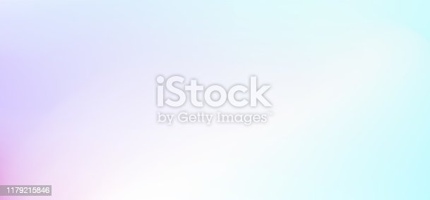 istock Multicolored pastel abstract background. Light gradient. Diffused white, purple, pink, turquoise hues. Gentle tones. Vector blurred backdrop for web banners, flyers, leaflets. EPS 10 illustration 1179215846