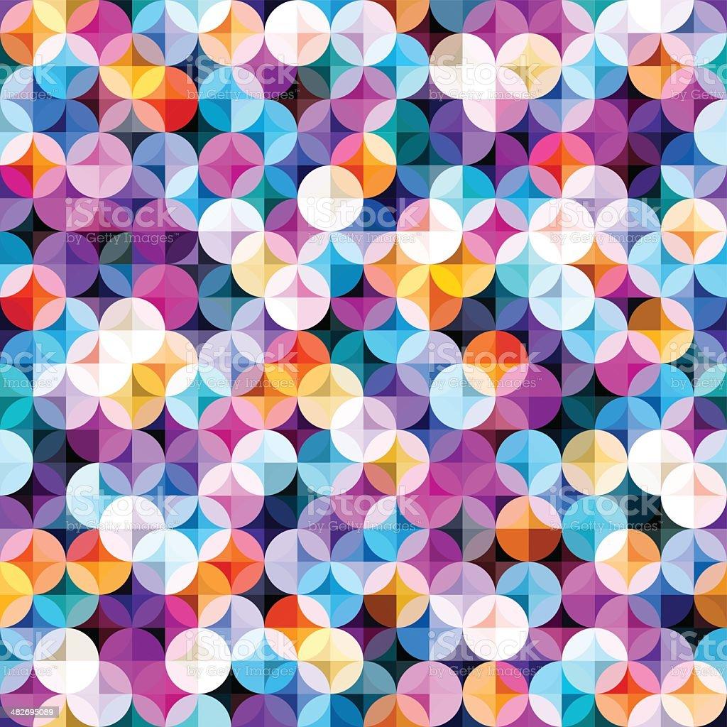 Multicolored Seamless Pattern vector art illustration