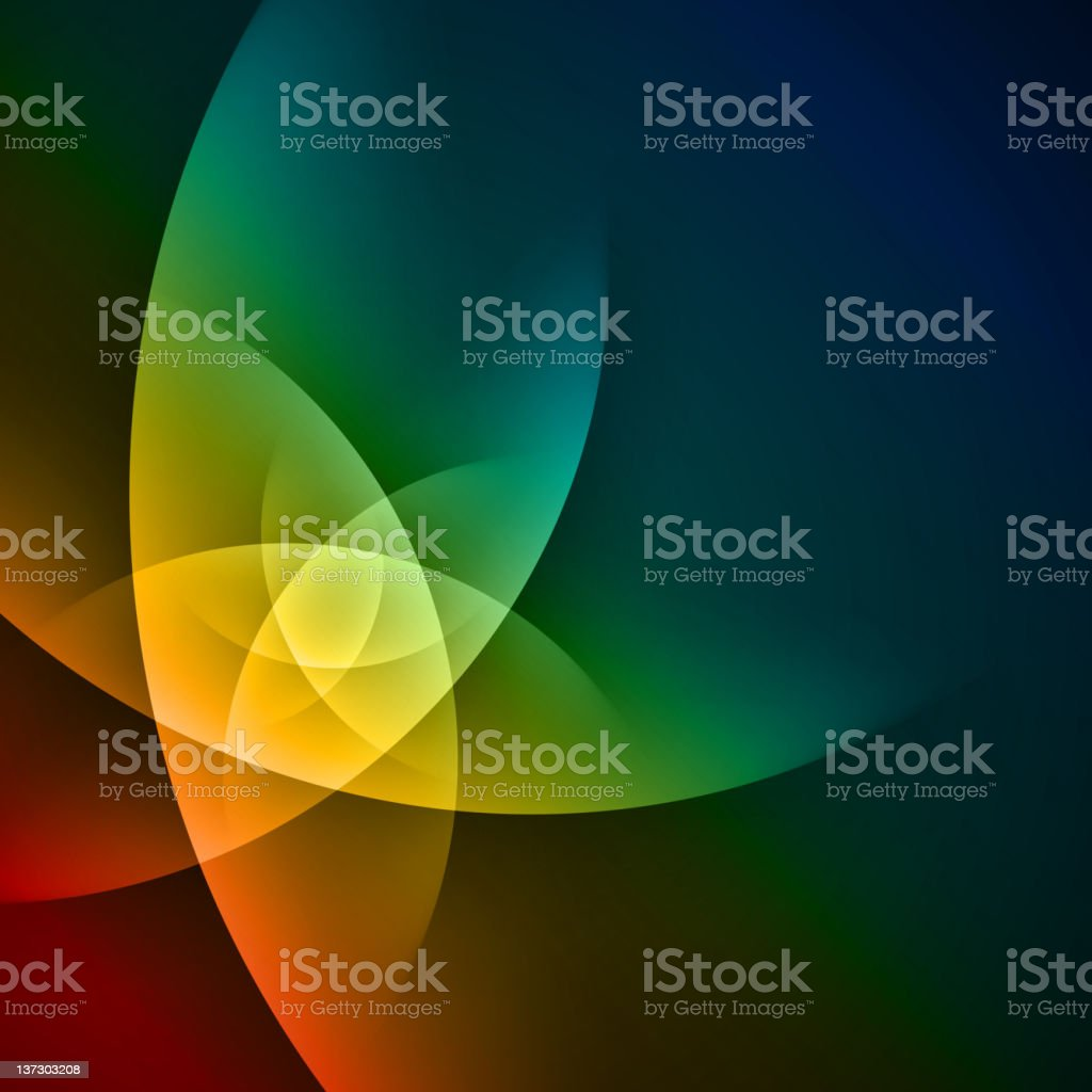 Multicolored smooth twist light lines in a geometric design royalty-free stock vector art