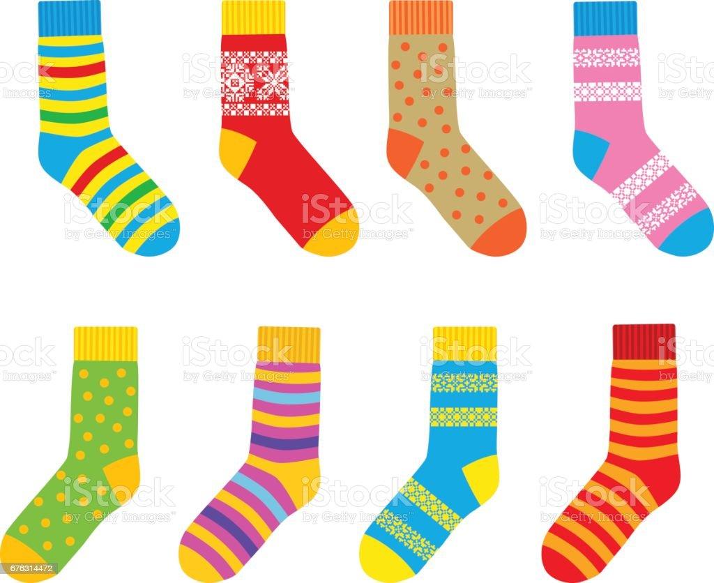 Ilustración de Calcetines Varios Colores y más banco de imágenes de ...