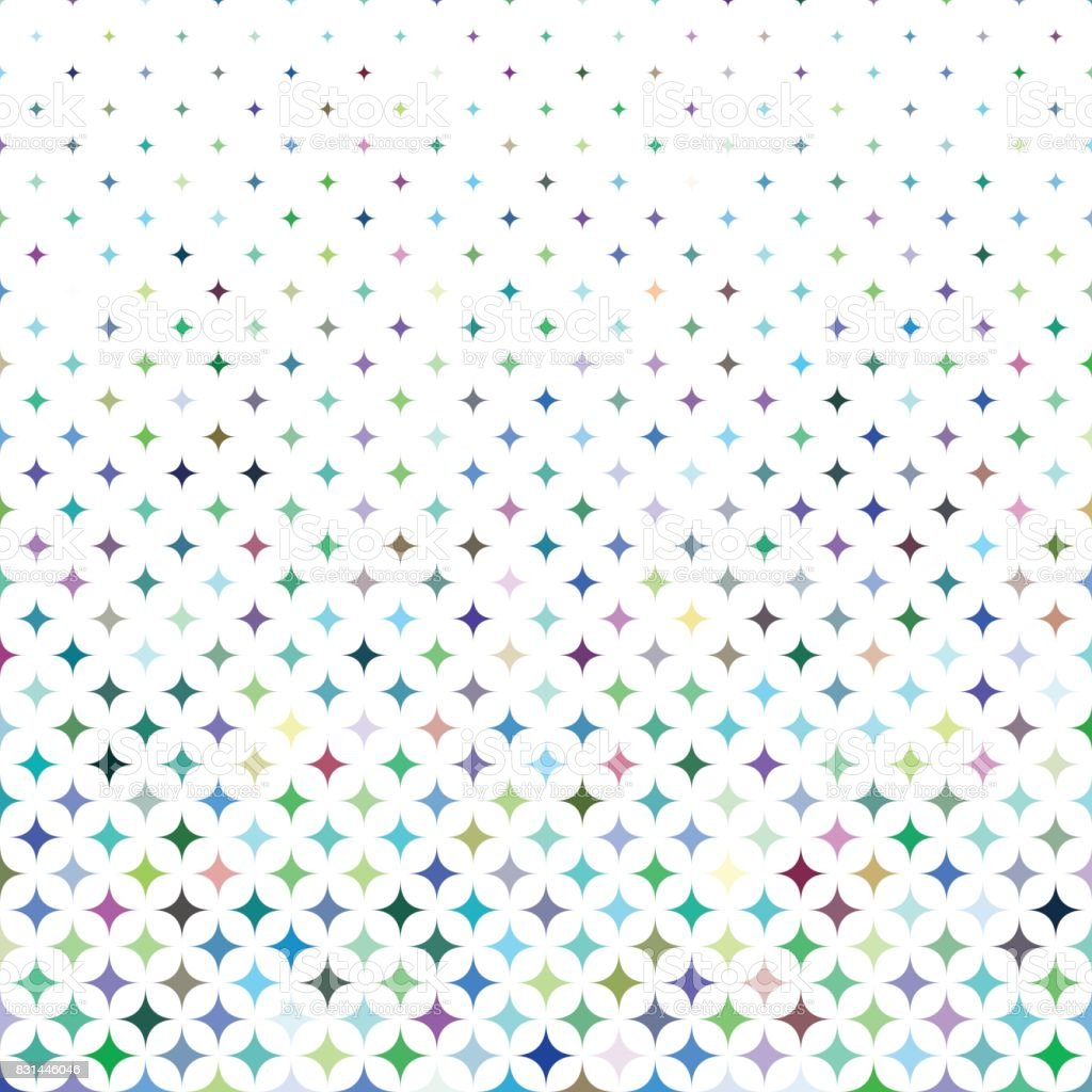 Multicolored star pattern background vector art illustration