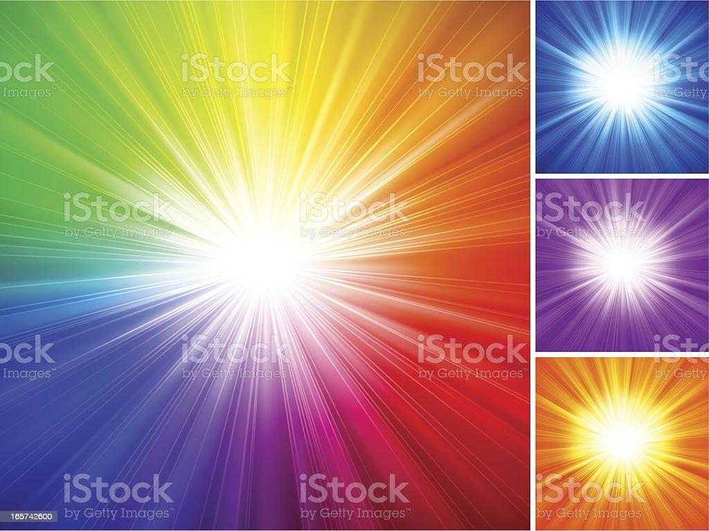 Multicolored Starburst Background vector art illustration