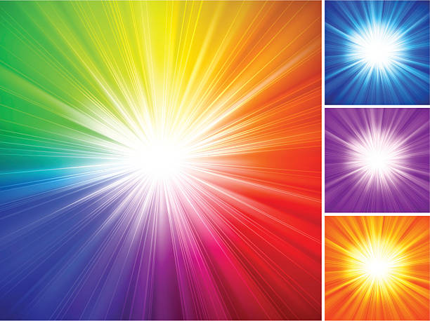 Multicolored Starburst Background vector art illustration