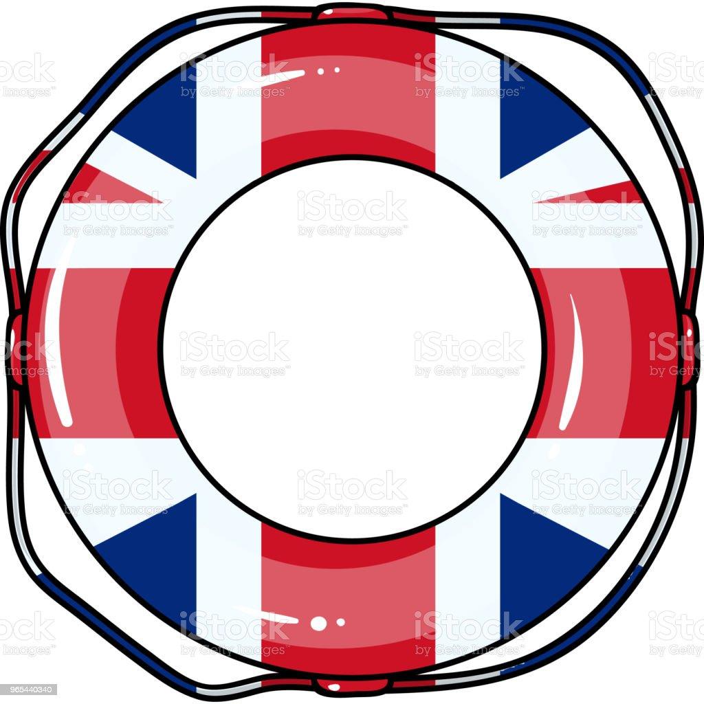 Wielokolorowe koło pływackie na relaks. Koło pływackie pojedyncza ikona w stylu kreskówki wektorowy symbol stockowy stronie. - Grafika wektorowa royalty-free (Dąsać się)