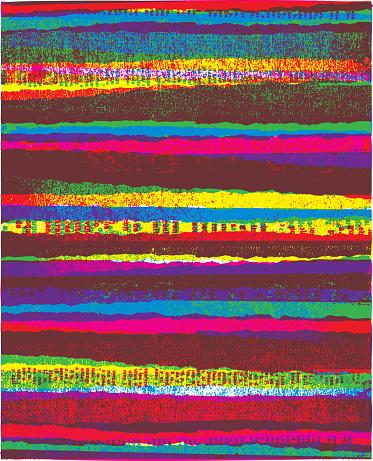 Multicolored torn stripes background - v5