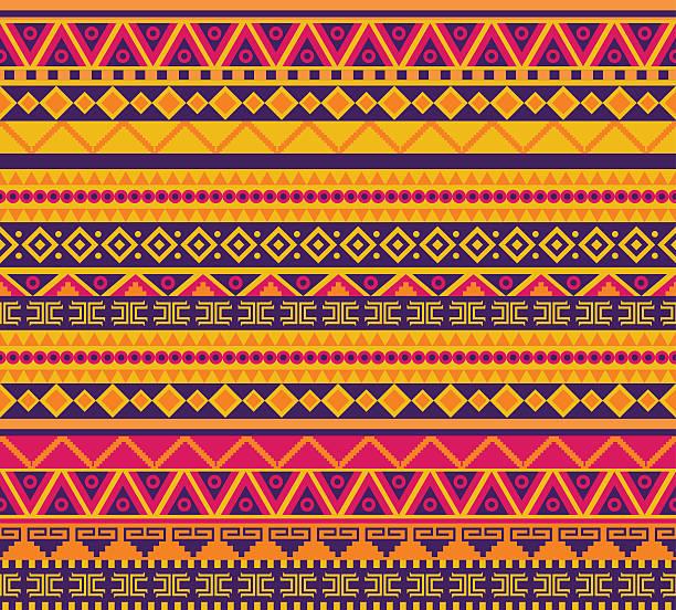 Multicolored tribal pattern background vector art illustration