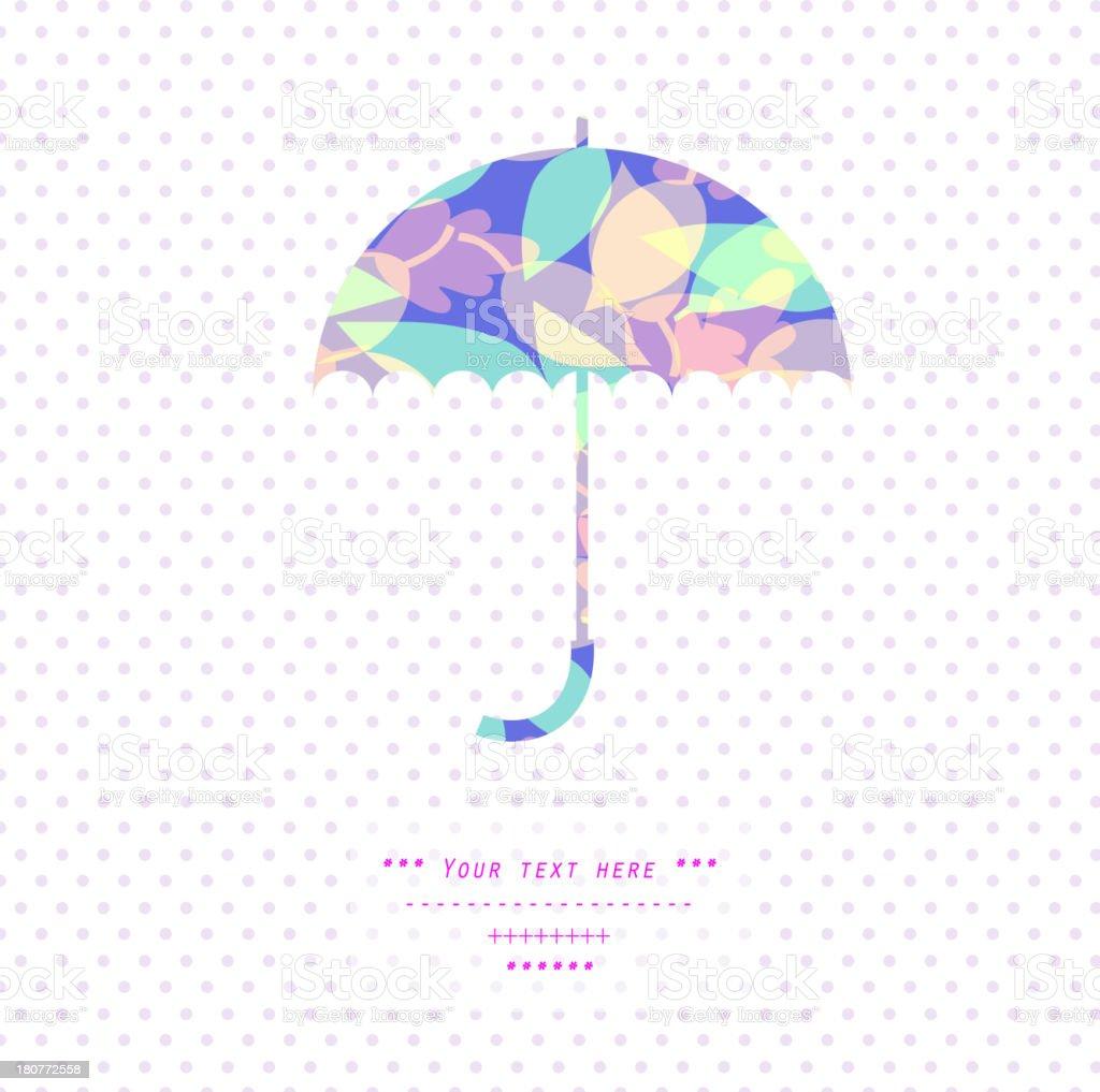 Multicolored umbrella royalty-free stock vector art