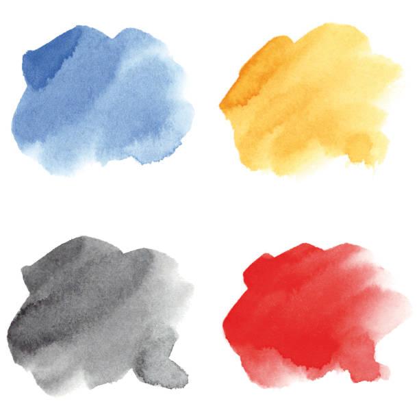Multicolored watercolor brushstrokes vector art illustration