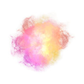 Multicolored Watercolor Splash with Gradient Effect. Bright colorful grunge blob. Fashion, beauty, posters and banners graphic design. Bright transparent watercolor vector circle stain stock.