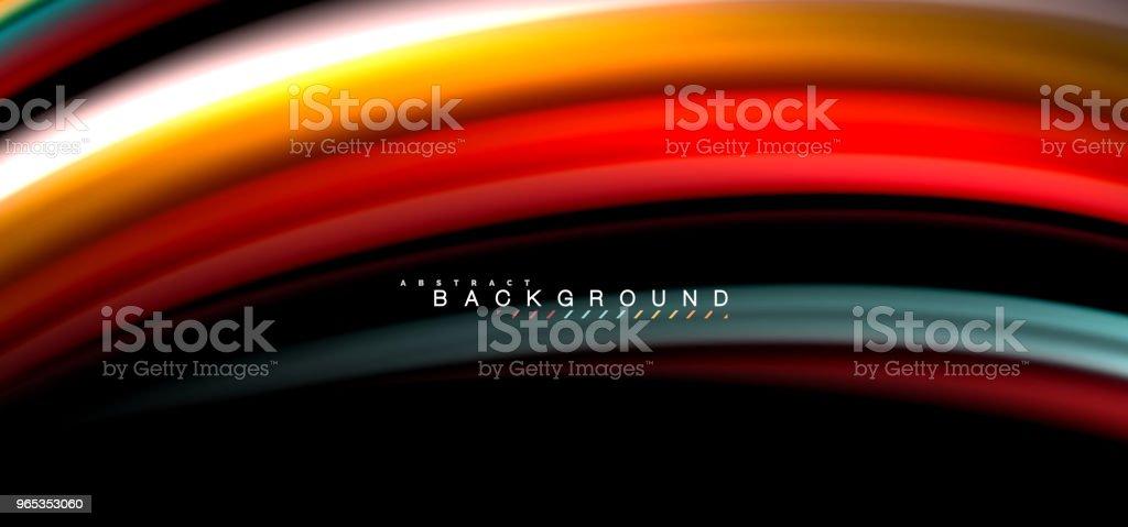 Multicolored wave lines on black background design multicolored wave lines on black background design - stockowe grafiki wektorowe i więcej obrazów abstrakcja royalty-free