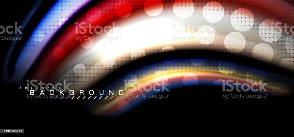 Multicolored wave lines on black background design - arte vettoriale royalty-free di Alla moda