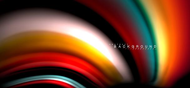 Veelkleurige Golf Lijnen Op Een Zwarte Achtergrondontwerp Stockvectorkunst en meer beelden van Abstract