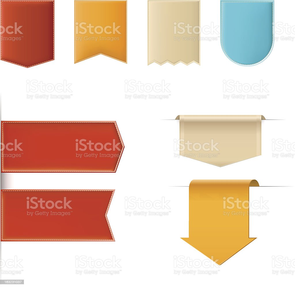 Multi-Colored web icons and symbols royalty-free stock vector art