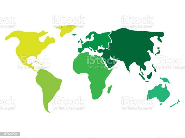 Multicolored world map divided to six continents in different colors vector id917042312?b=1&k=6&m=917042312&s=612x612&h=7kzw621n3mpvaa3ir13rujxgsvih71y52 9vroyw19o=