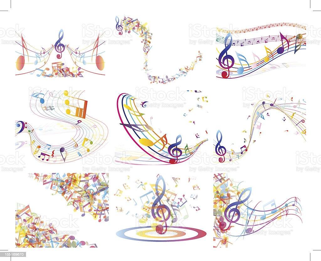 Multicolour  musical vector art illustration