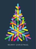 Christmas Tree made from transparent shapes, best in RGB. Eps 10 file, CS5 version in the zip