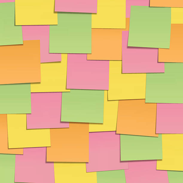 Royalty Free Post Its On Wall Clip Art, Vector Images ...
