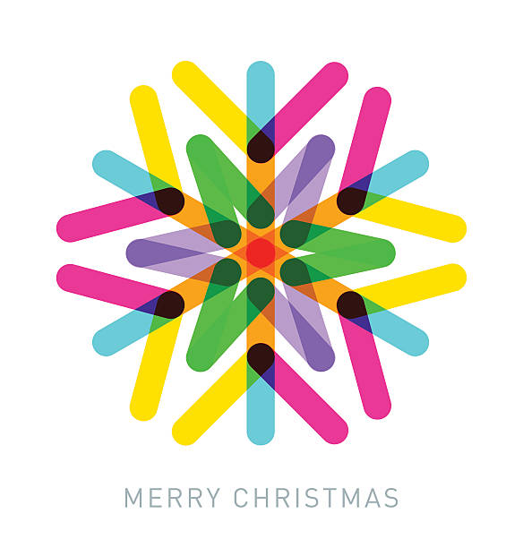 Multi-coloured Snowflake - ilustración de arte vectorial