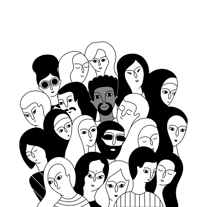 A Multicultural Group Of Women And Men Stock Illustration - Download Image Now