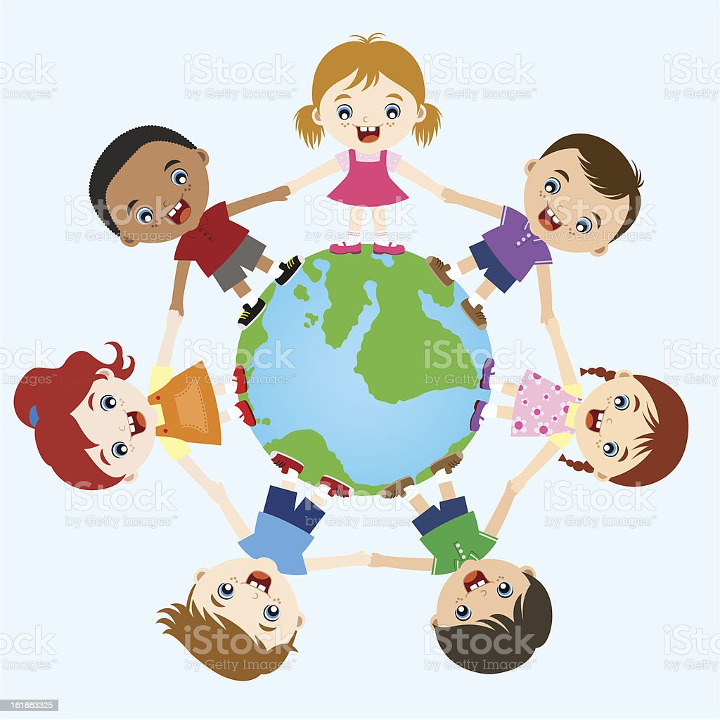 multicultural kids holding hands royalty-free multicultural kids holding hands stock vector art & more images of adolescence