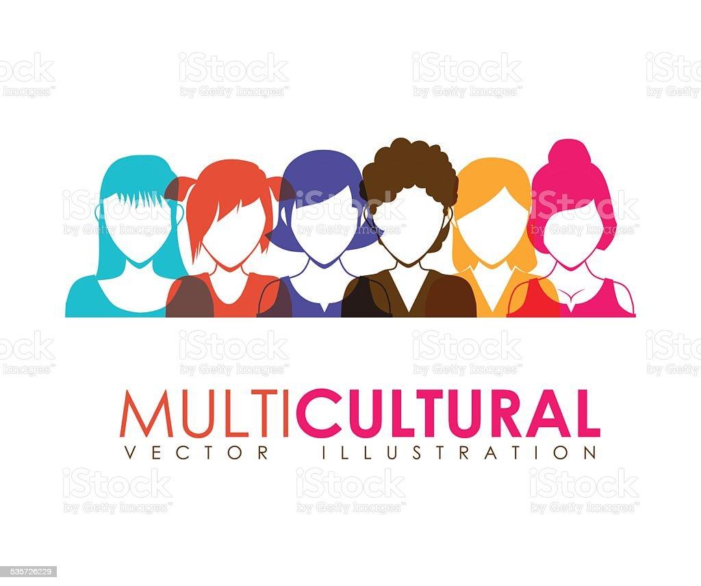 multicultural vector art illustration