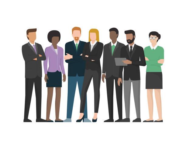 ilustrações de stock, clip art, desenhos animados e ícones de multiethnic business team - business meeting