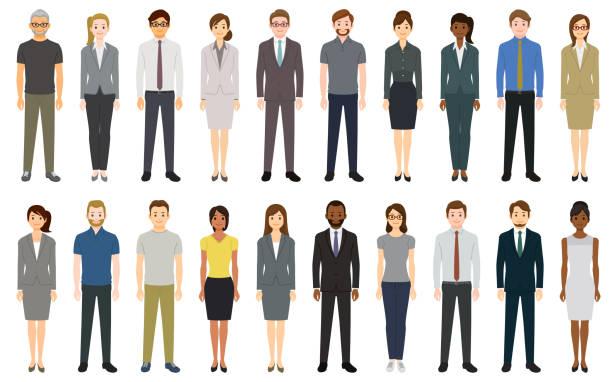 Multiethnische Gruppe von Menschen – Vektorgrafik
