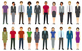 Multiethnic group of people. Created with adobe illustrator.