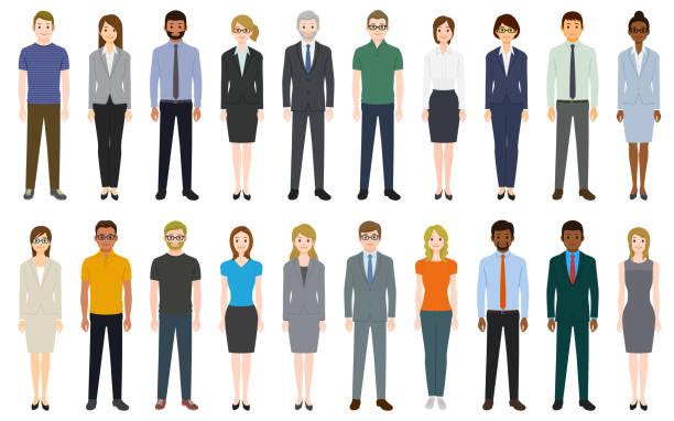 Multiethnic group of people Multiethnic group of people. Created with adobe illustrator. cartoon people stock illustrations