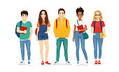 istock Multiethnic young people in casual clothes 1273828856