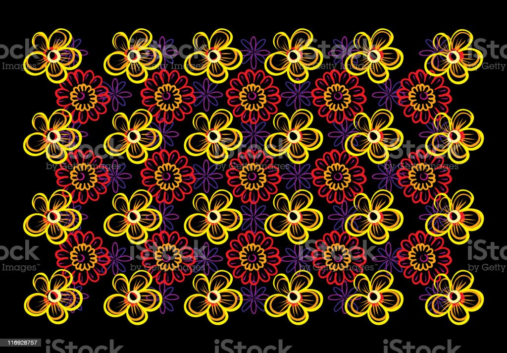 Multi-level floral stereogram royalty-free stock vector art