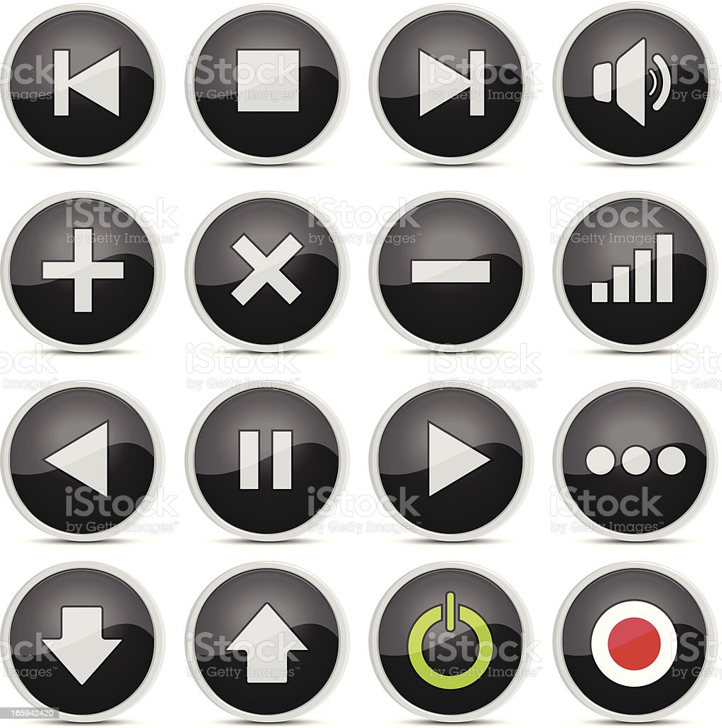 Multimedia Button royalty-free stock vector art