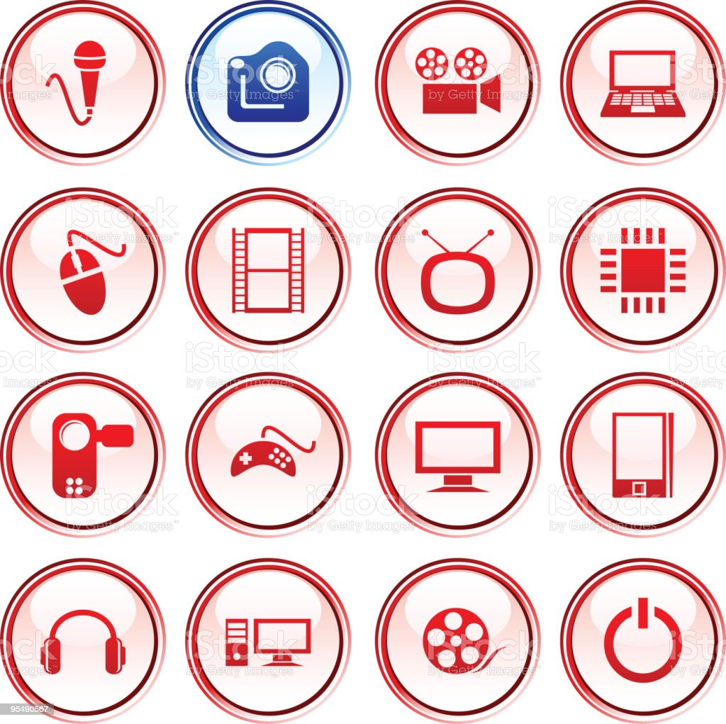 Multimedia  buttons. royalty-free stock vector art