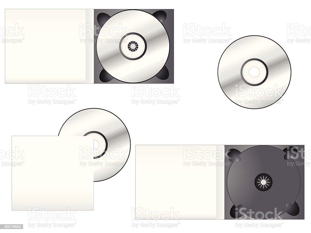 Multimedia CD Packaging vector art illustration