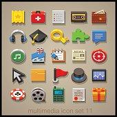 Multimedia icon set-11