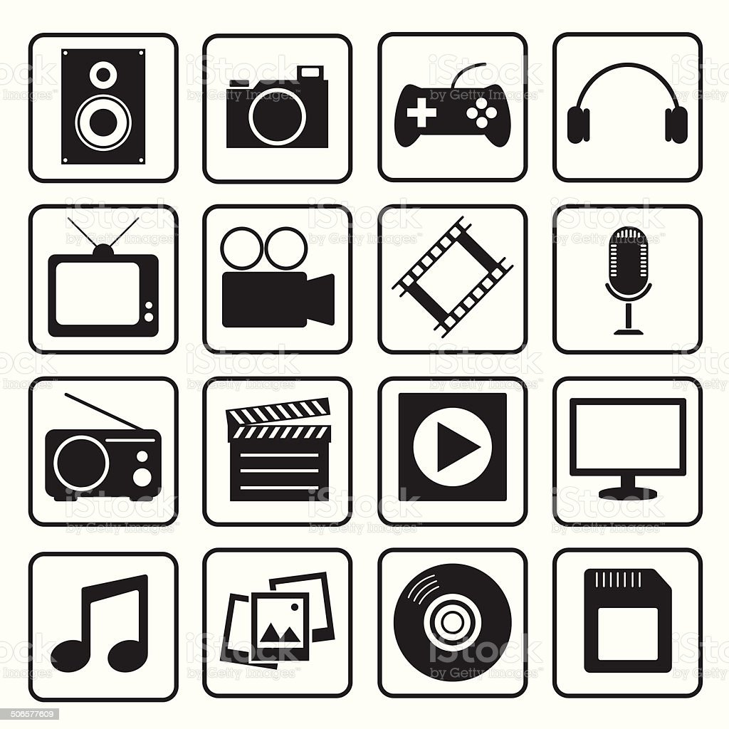 Multimedia icon vector art illustration