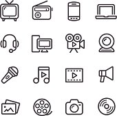 Multimedia Icons - Line Series